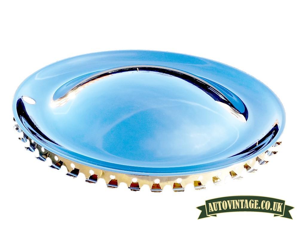 Chrome Baby Moon Steel hubcaps